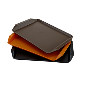 PLASTIC TRAYS FOR SELF-SERVICE CLPT-43B/C WITH HANDLES